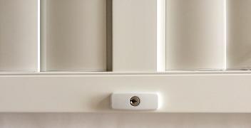 aluminium shutter security panel lock