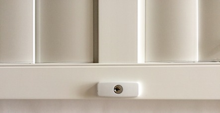 aluminium shutter security panel lock