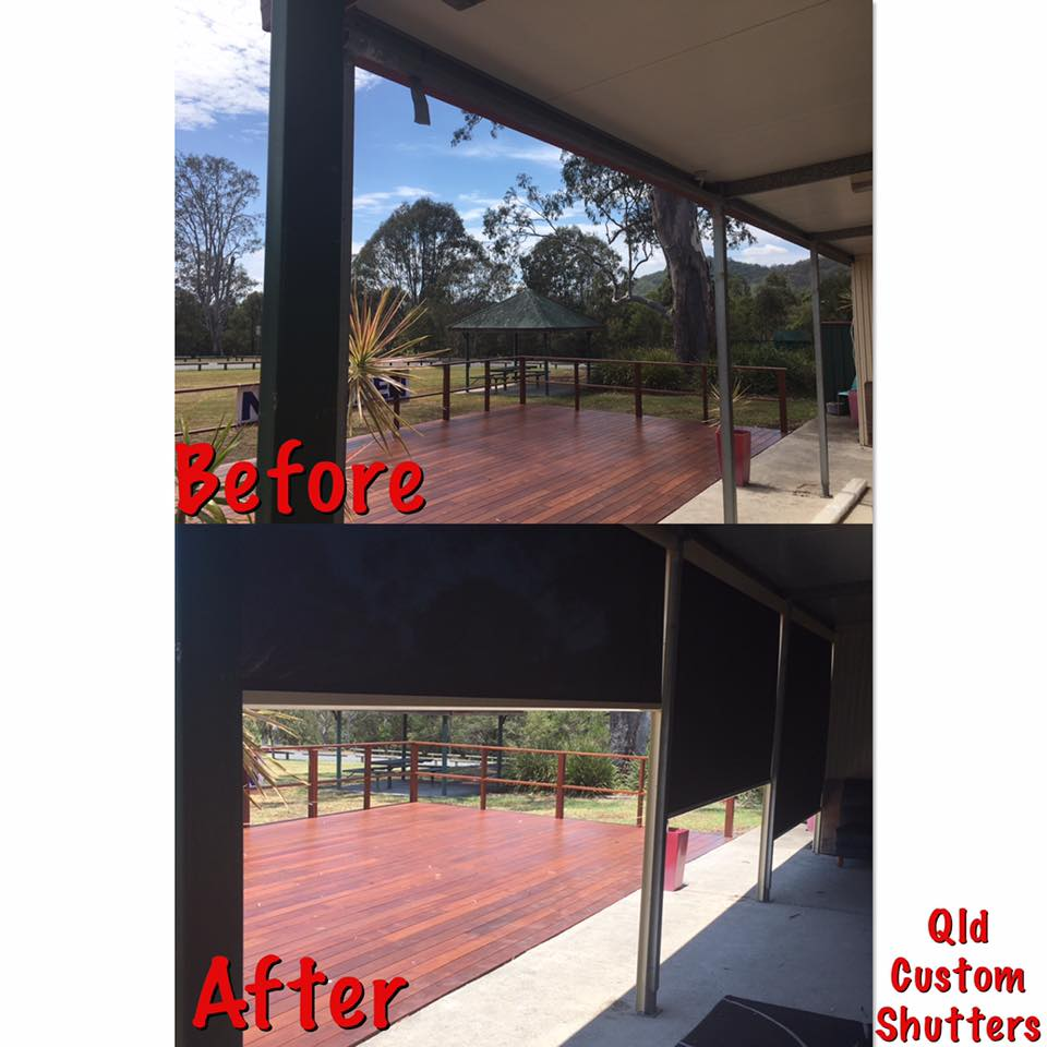 external blinds awning before and after brisbane