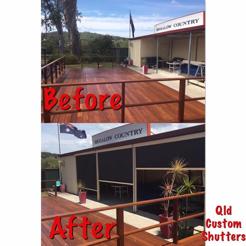 external blinds awnings before and after photo brisbane
