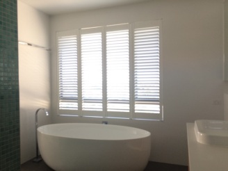 Greenslopes plantation shutters bathroom