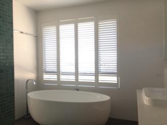 Greenslopes plantation shutters bathroom