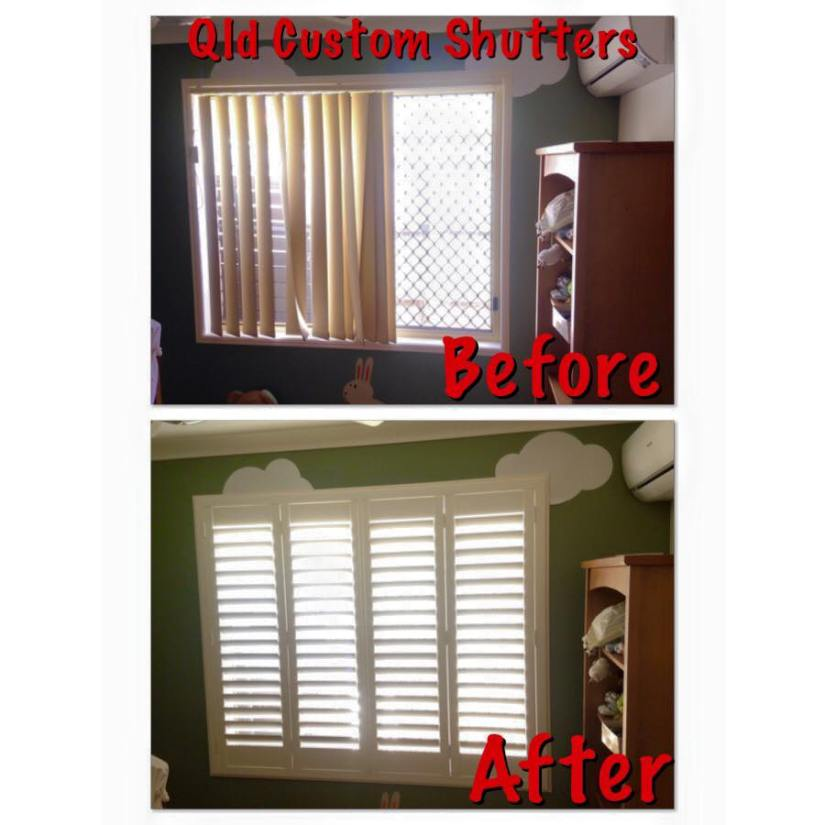 plantation shutters before and after gold coast