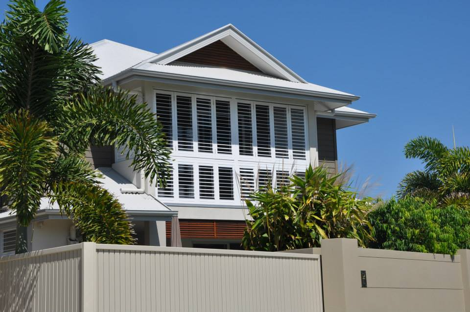 Aluminium shutters Sovereign Island