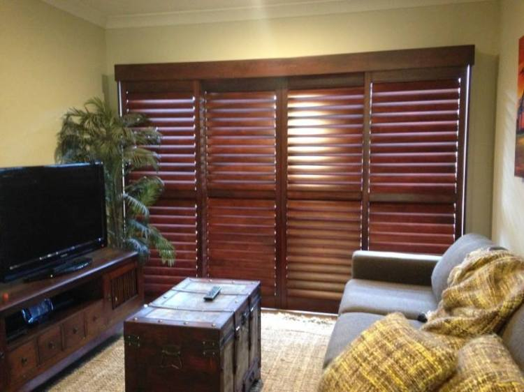 Stained Timber Shutters Paradise Point