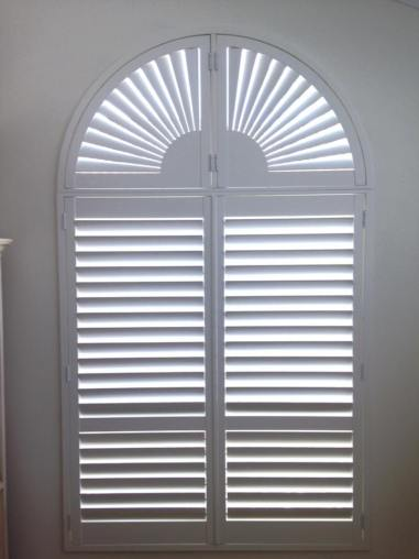 arched window shutters milton